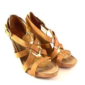 Donald J. Pliner High Heel Slingback Gold  Sandal